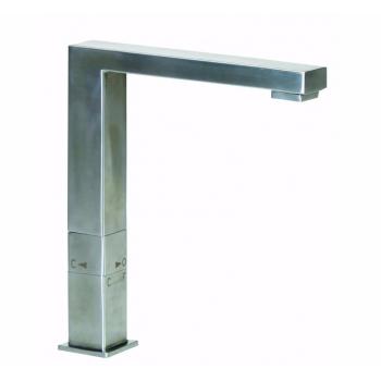 Змішувач для кухні, квадратний GENEBRE INOX, нерж. сталь, дворежимний (65208186066)