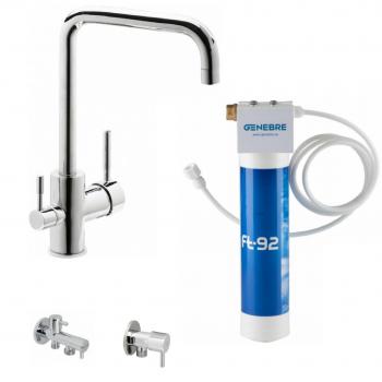 Кухонний змішувач з системою очищення води GENEBRE Tau FT65702 (65702184566+FT00+310904+310404)